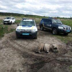 На Рівненщині викрили нелегальний видобуток бурштину (ФОТО)