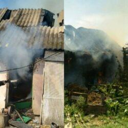 На Рівненщині згоріла будівля: полум'я рятувальники гасили 3 години (ФОТО)